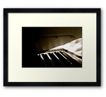 Paris Metro .... waiting for a shadow..... Framed Print