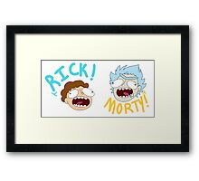 Rick and Morty (Ver. A) Framed Print