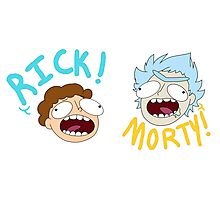 Rick and Morty (Ver. A) Photographic Print