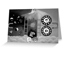 X-ray perception ( black and white Greeting Card