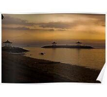 Dawn at Sanur Beach Poster