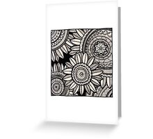 Ethnic sunflowers Greeting Card