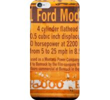 1931 Ford Model AA Truck Sign iPhone Case/Skin