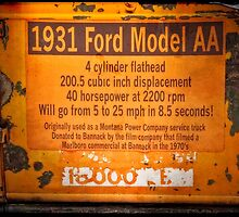 1931 Ford Model AA Truck Sign by IMAGETAKERS