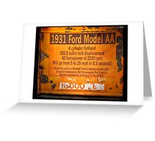 1931 Ford Model AA Truck Sign Greeting Card