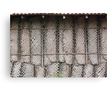 thatched wall Canvas Print