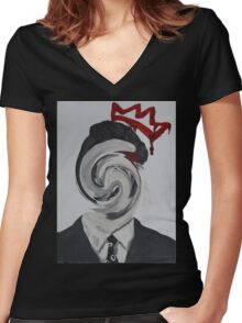 Faceless Moriarty Women's Fitted V-Neck T-Shirt