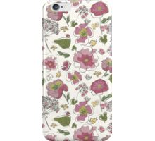 Floral seamless pattern with fantasy blooming flowers iPhone Case/Skin