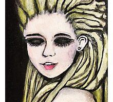 Blonde Dread-Lock Babe Photographic Print