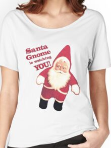 Funny Vintage Christmas Santa Gnome Women's Relaxed Fit T-Shirt
