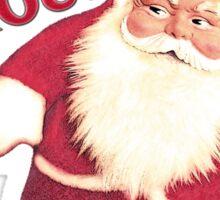 Funny Vintage Christmas Santa Gnome Sticker