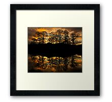 Sunset reflections on the river Brathay Framed Print