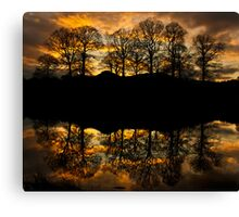 Sunset reflections on the river Brathay Canvas Print
