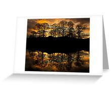 Sunset reflections on the river Brathay Greeting Card