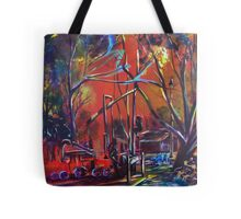 The Playground Train Tote Bag