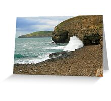 Waves On The Ledge Greeting Card