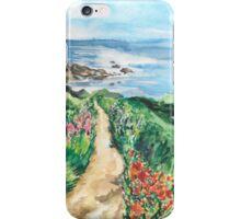 Ocean Path Landscape Watercolour Painting iPhone Case/Skin