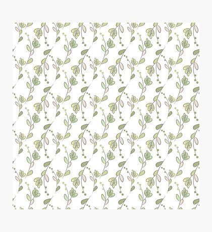 Seamless ecology pattern with hand drawn leaves Photographic Print