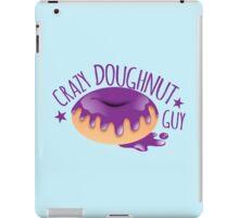 Crazy Doughnut Guy iPad Case/Skin