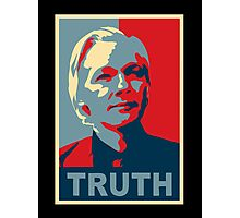 TRUTH, Julian Assange Photographic Print