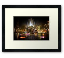 Fountains of Light Framed Print