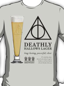 Deathly Hallows Lager (dark text) T-Shirt
