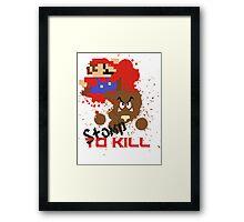 Stomp To Kill Framed Print