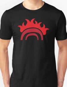 a burning bridge in RED Unisex T-Shirt