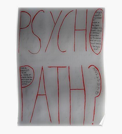 Psychopath? Poster