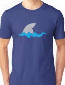 Shark fin in the water Unisex T-Shirt