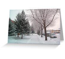 Freezing Foggy Morning3 Greeting Card