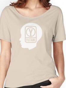 YUTANI Corporate Logo (Head version) [White] Women's Relaxed Fit T-Shirt