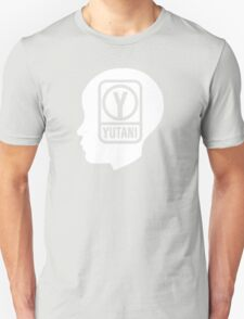 YUTANI Corporate Logo (Head version) [White] Unisex T-Shirt