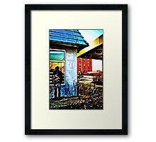 Lost faces, Lost Places, Lost World Framed Print