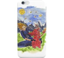Cloud and Red XIII iPhone Case/Skin