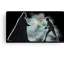 Vader Luke duel Canvas Print
