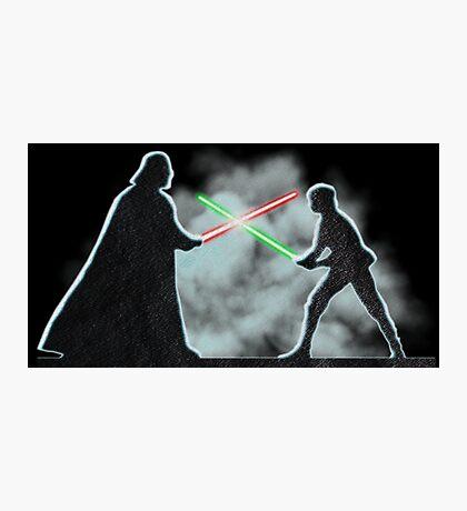 Vader Luke duel Photographic Print