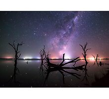 Lakeside Galaxy... Photographic Print