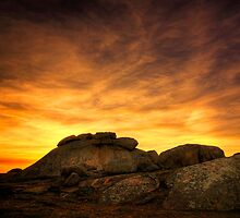 Last Glow - Dog Rocks by Hans Kawitzki