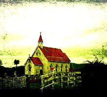 St Barnabus Maori Anglican church. by Lynne Haselden