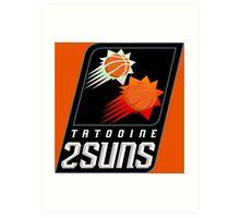 Tatooine 2Suns - Star Wars Sports Teams Art Print