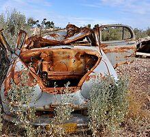 Rusted Peace - Lightning Ridge NSW Australia by Bev Woodman