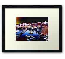 Different type of harbour Framed Print