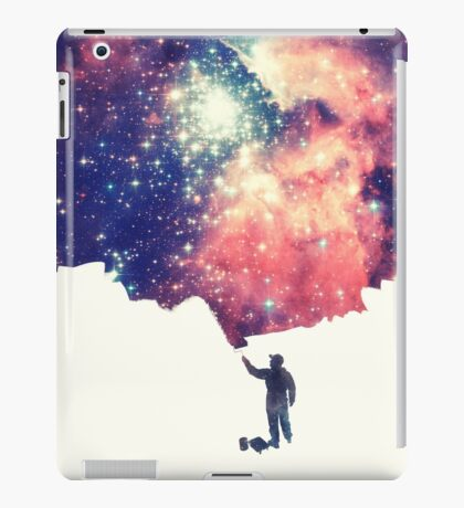 Painting the universe (Colorful Negative Space Art) iPad Case/Skin