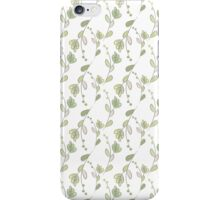 Seamless ecology pattern with hand drawn leaves iPhone Case/Skin