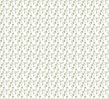 Seamless ecology pattern with hand drawn leaves by Ana Marques