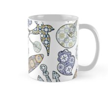 Collection of traditional Portuguese icons in seamless pattern Mug