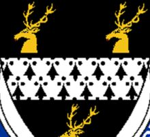 Coat of arms (family crest) for last-name or surname Parkes (England) . Heraldry banner for your name. Sticker