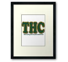 THC Cannabis Framed Print