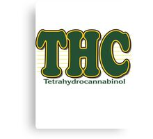 THC Cannabis Canvas Print